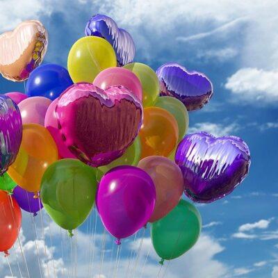 Balloons, Heart, Sky, Decoration, Party